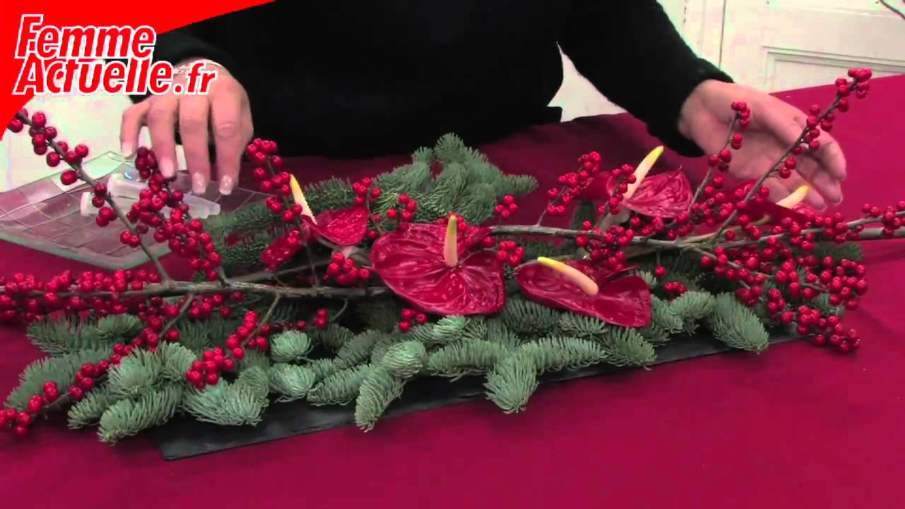 D corer sa table pour le r veillon une table contemporaine youtube - Table pour noel decoration ...
