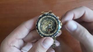Обзор и настройка. Механические часы Winner Bussines скелетоны с автоподзаводом