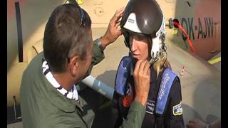Adela Banášová - fighter plane L-29 Dolphin