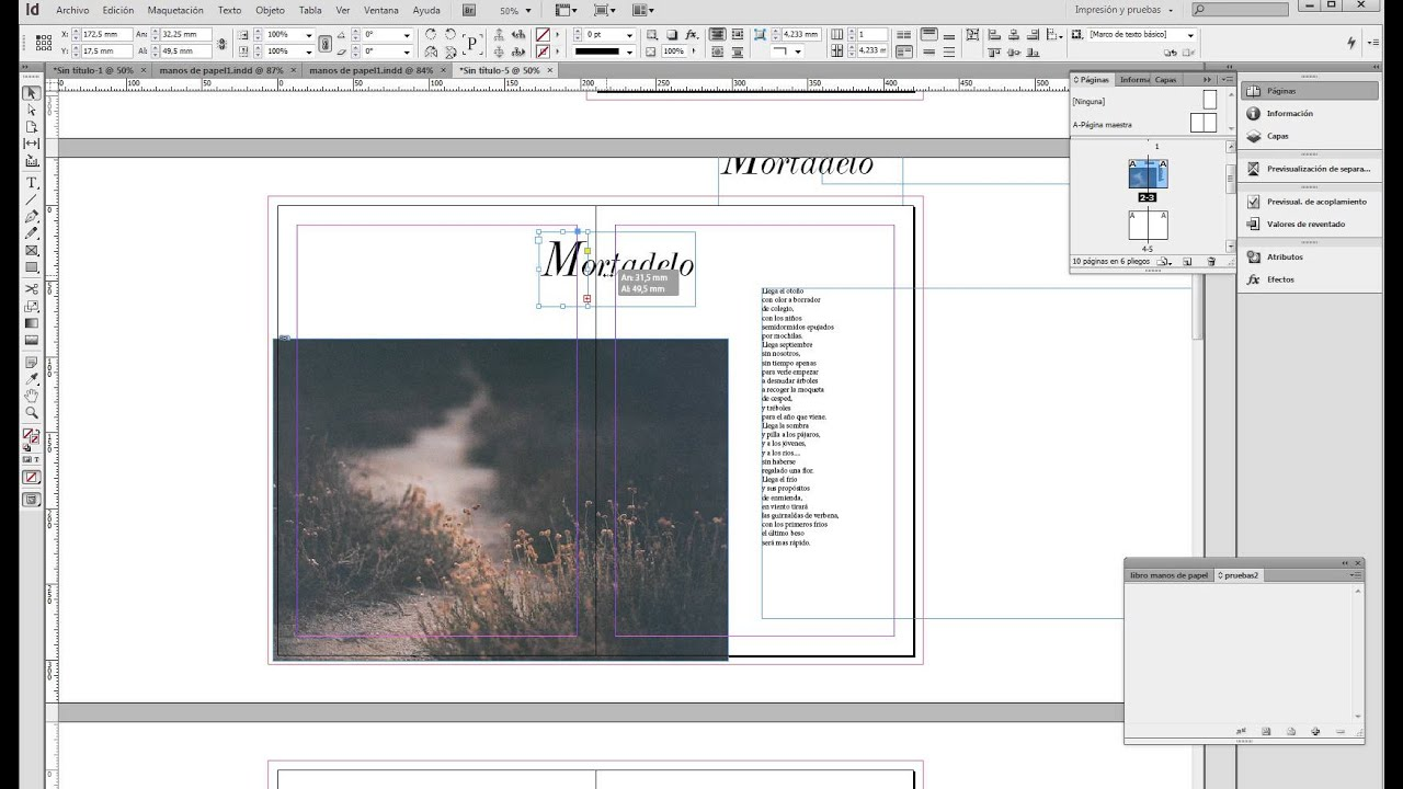 Como trabajar con p ginas encaradas en indesign para que for Indesign interior