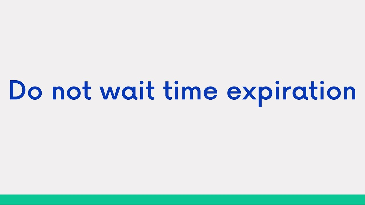do not wait time expiration add more contract close position reverse