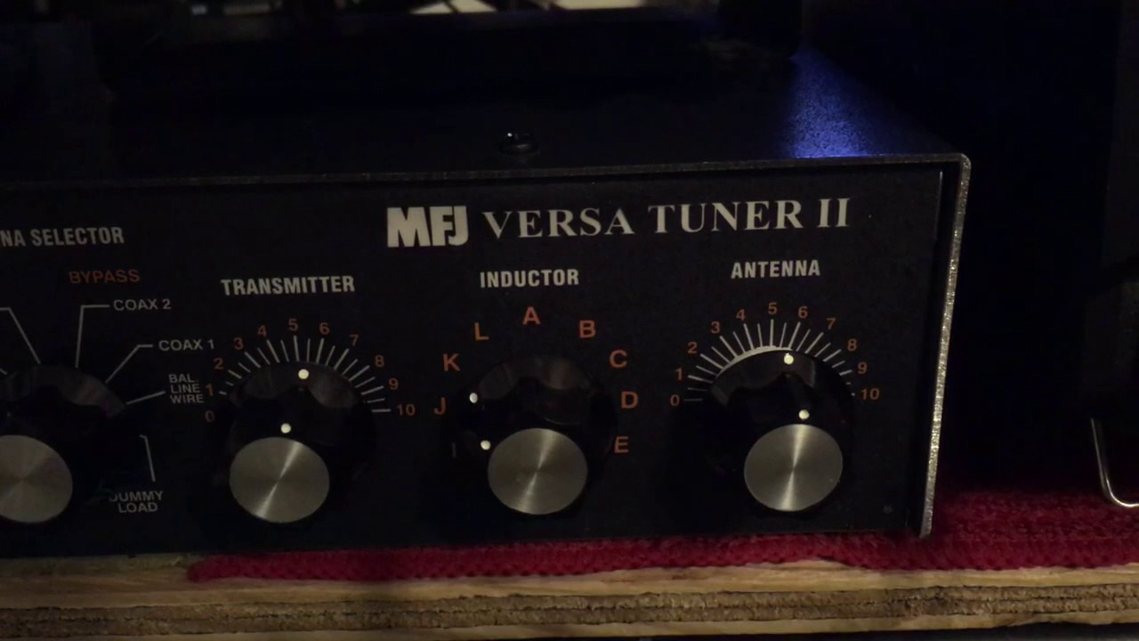 Using a manual antenna tuner mfj-941e