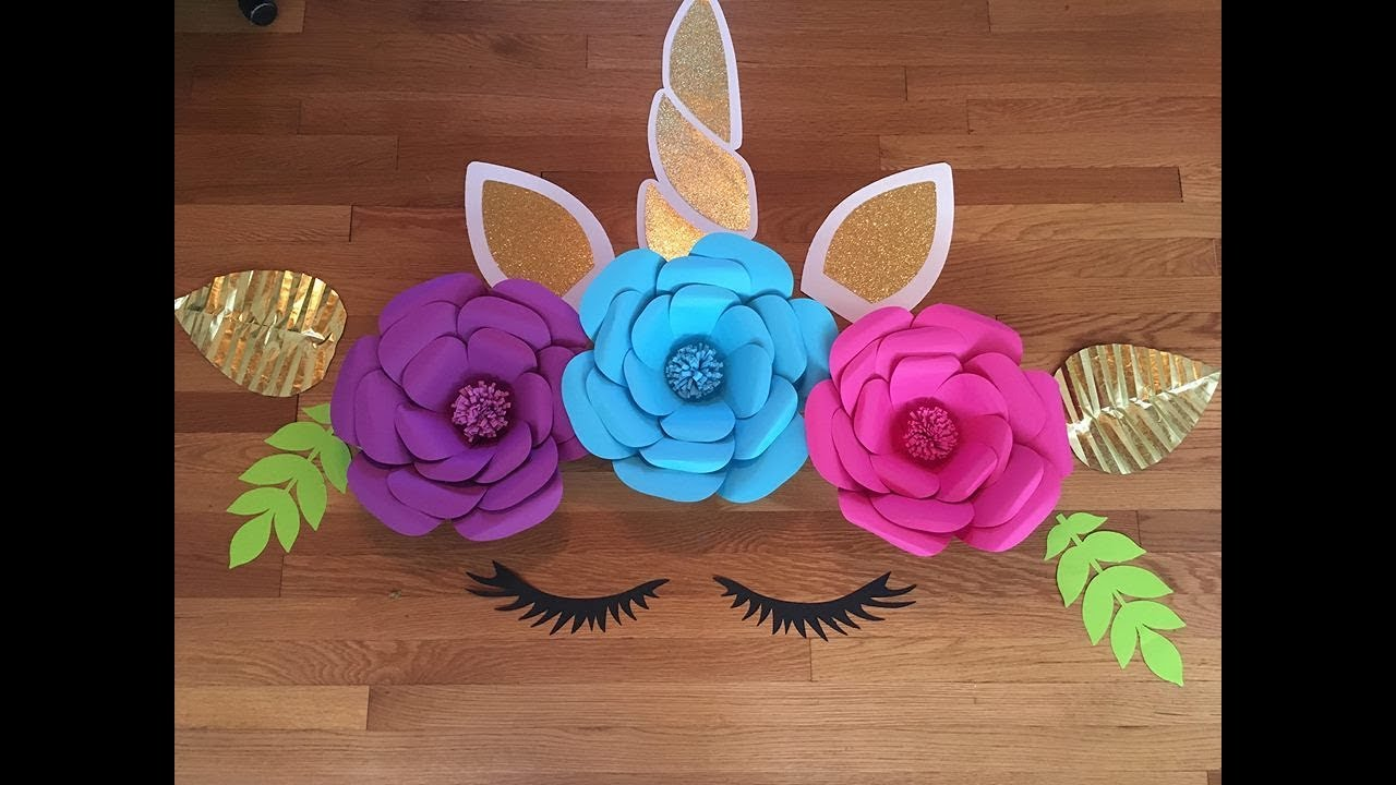 Unicorn Paper Flower Youtube