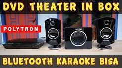 Speaker DVD THEATER IN BOX Polytron DTIB 2590K Bluetooth Wireless Karaoke Bisa Full Range Subwoofer