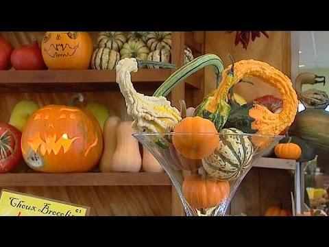 Eure : Production De De Citrouilles Pour Halloween