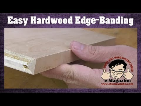 Make plywood look like hardwood- edge banding without special tools!