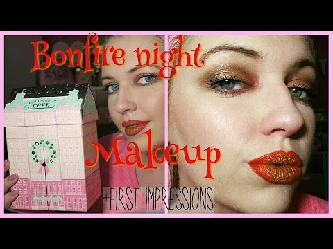 Bonfire night makeup look tutorial   Too Faced Grande cafe first impressions   IdleGirl