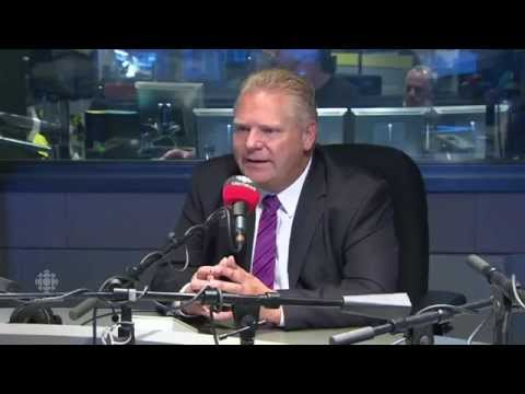 Combative Doug Ford on CBC's Metro Morning