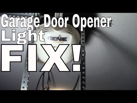 Fix/Change the Light Bulb in Your Garage Door Opener.  GENIE CHAMBERLAIN LIFTMASTER CRAFTSMAN SOMMER