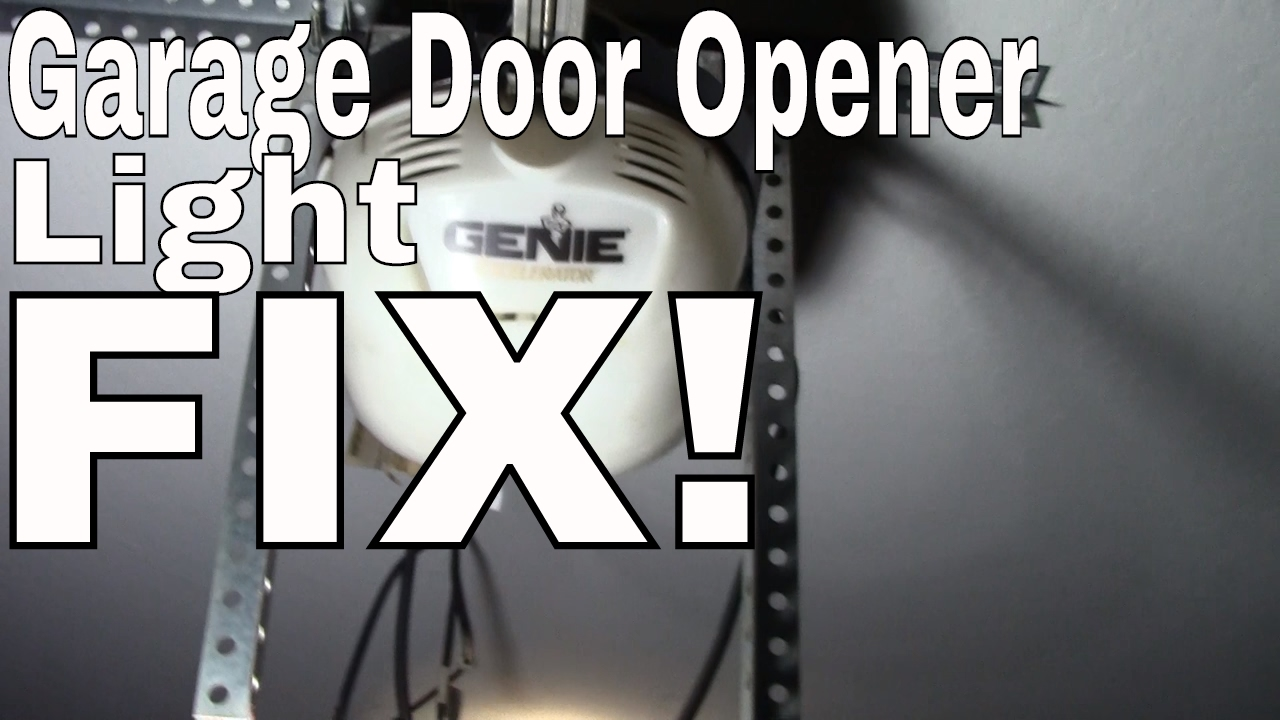 Fix Change The Light Bulb In Your Garage Door Opener