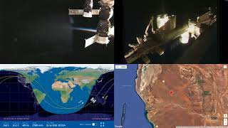 Orbital Sunset Over Australia - NASA/ESA ISS LIVE Space Station With Map - 25 - 2018-07-15
