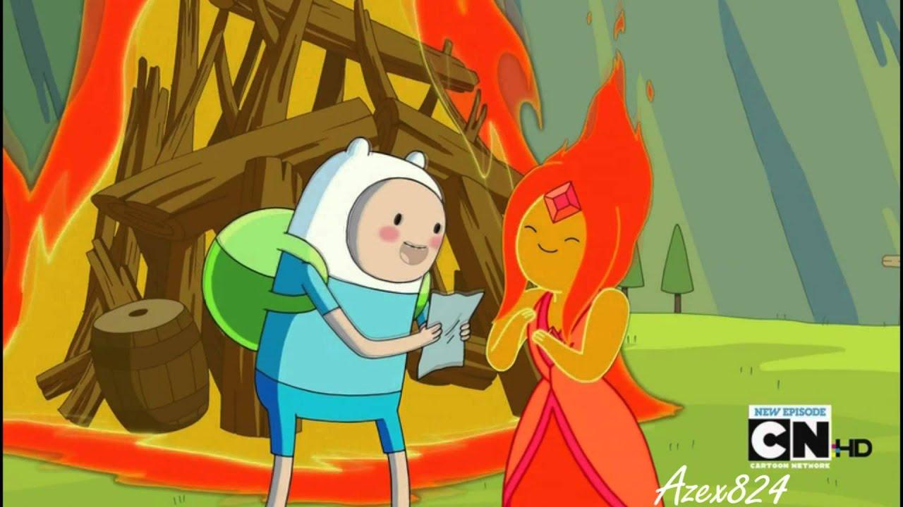 Adventure Time Anime Wallpaper Finn X Flame Princess Just A Kiss Youtube