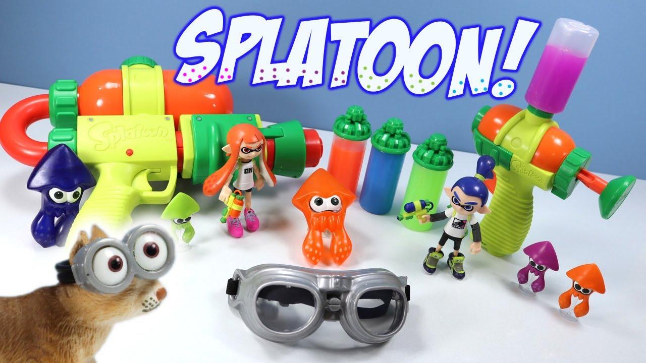 World Of Nintendo Splatoon 2 Splattershot Blaster Mini Ink Gun Toy Review