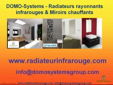 Chauffage rayonnant infrarouge et miroir chauffant youtube for Miroir infrarouge
