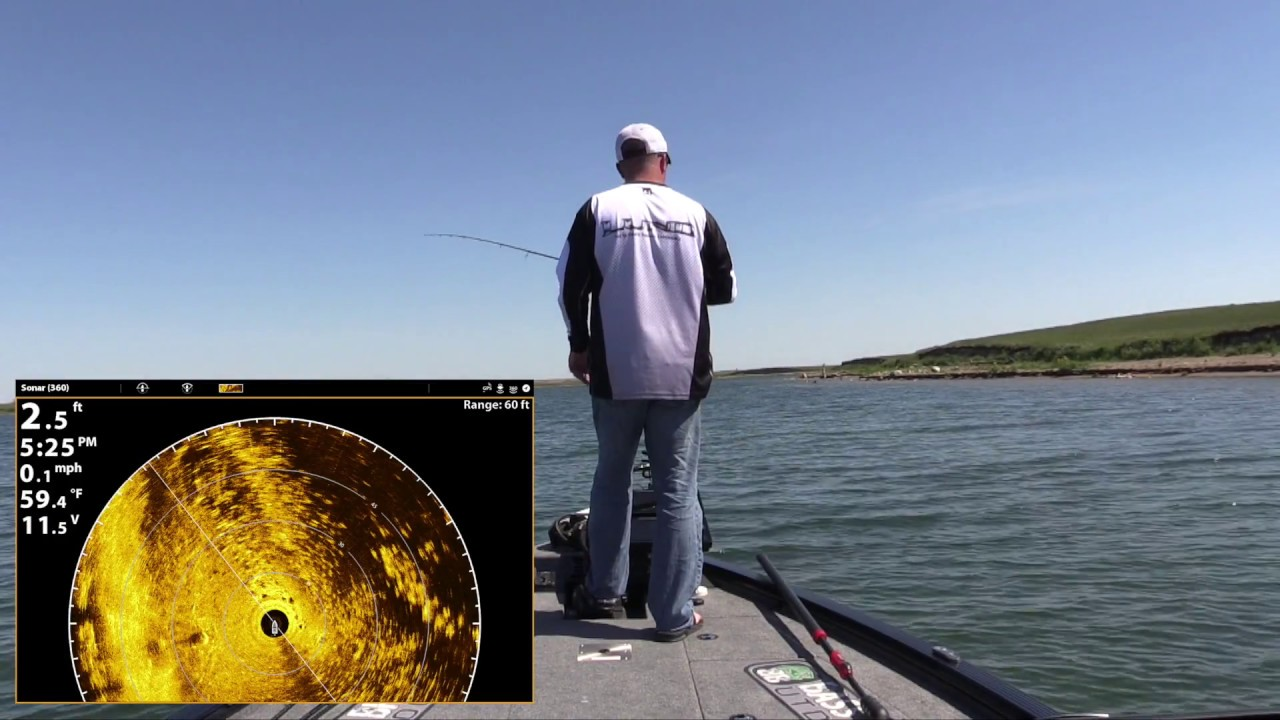 Spawning smallmouth bass using your eyes and humminbird for Ktp fishing report