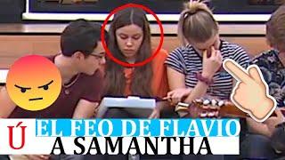 El feo gesto de Flavio a Samantha con Eva de protagonista que desata las redes de OT 2020