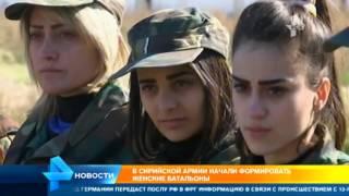 Сирийская армия формирует женские батальоны(Официальный сайт: http://ren.tv/ Сообщество в VK: https://vk.com/rentvchannel Сообщество в Одноклассниках: http://ok.ru/rentv Сообщество..., 2016-01-28T08:03:58.000Z)