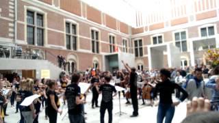 European Union Youth Orchestra - EUYO - Flashmob - Rijksmuseum, Amsterdam - 23.08.2014