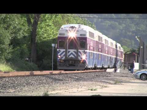 Altamont Commuter Express train montage