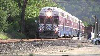 Altamont Commuter Express train montage