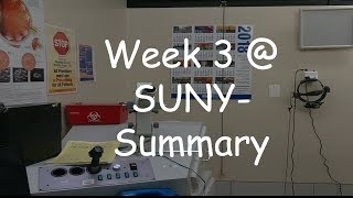 Week 3 at SUNY- Summary