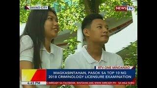 BP: Magkasintahan, pasok sa top 10 ng 2018 Criminology Licensure Examination