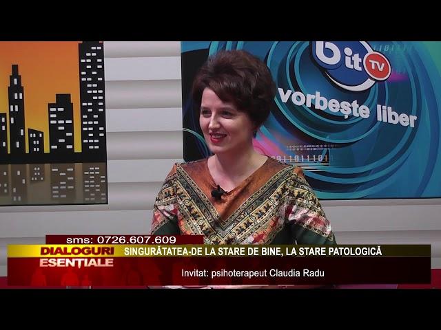 DIALOGURI ESENTIALE:  SINGURATATEA DE LA STARE DE BINE LA STARE PATOLOGICA