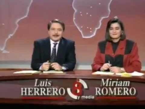 Cabecera Antena 3 Noticias 1990 | Noticias de las 8 y media