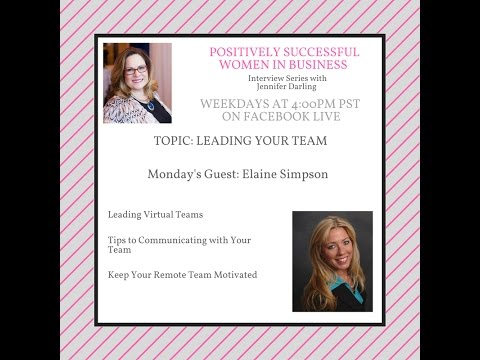 Positively Successful Women in Business Elaine Simpson