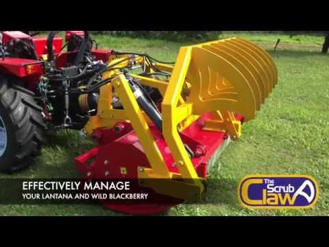 Scrub Claw (Patent Pending) Control your Lantana - by Hillside Tractors Australia (v2)