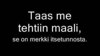 Aarne Tenkanen - Taas me tehtiin maali with lyrics