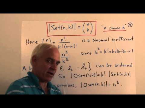 Four basic combinatorial counting problems | Data structures in Mathematics Math Foundations