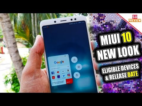 MIUI 10 NEW LOOK || ELIGIBLE DEVICES || RELEASE DATE ( BEST MIUI EVER )