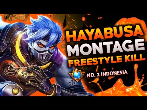 HAYABUSA TOP GLOBAL MONTAGE #1 • Freestyle Kill Combo Hayabusa Mobile Legends