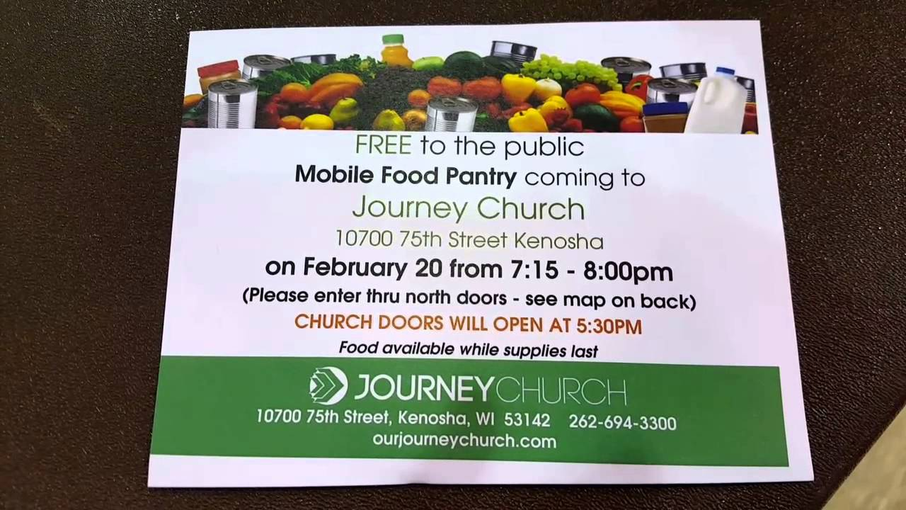 Journey Church Free once a Month Food Pantry