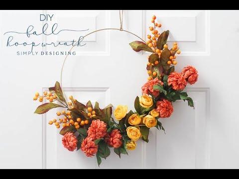 DIY Fall Hoop Wreath