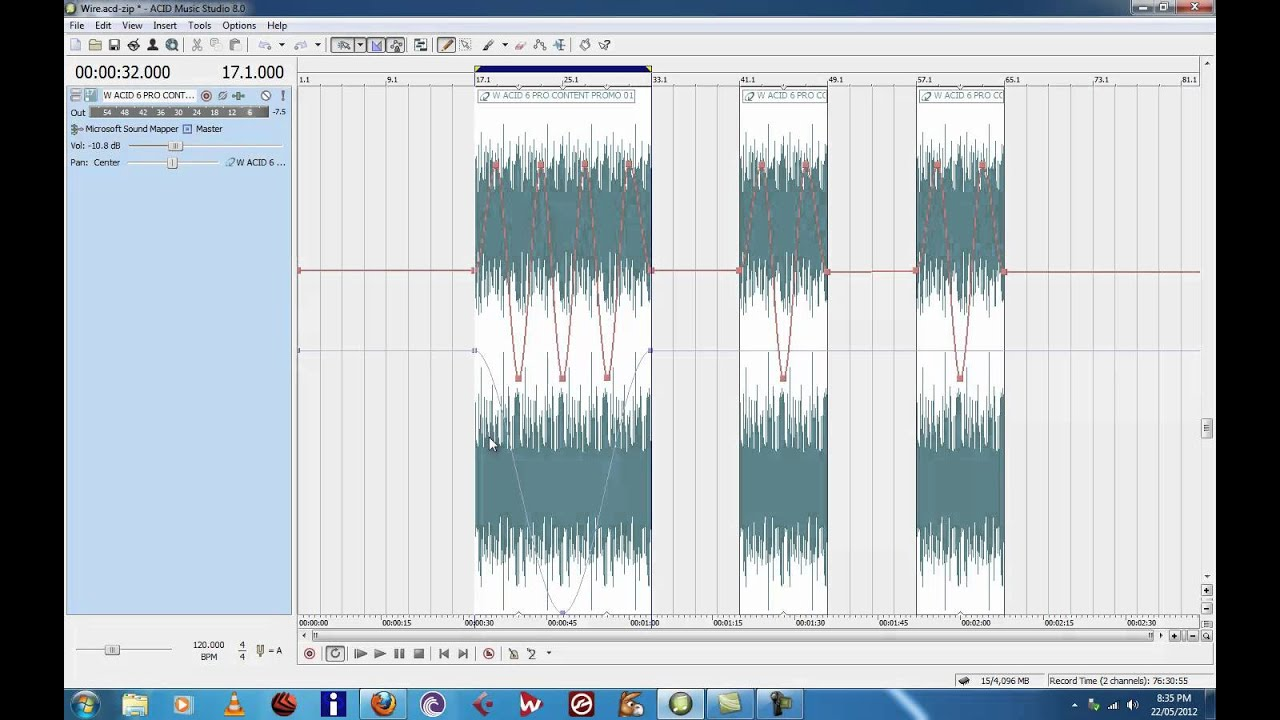 Sony acid music studio 8 tutorial midi pitch bend automation www.