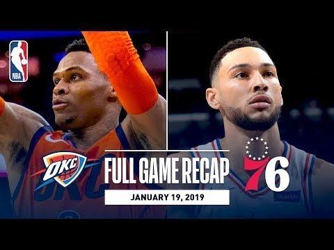 Oklahoma City Thunder vs Philadelpha 76ers Full Game Highlights I January 19, 2019