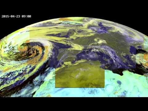 Time-lapse of Europe in April 2015 seen from geostationary orbit