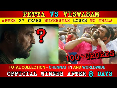 PETTA vs VISWASAM | ரஜினி LOSES TO தல AFTER 27 YEARS |VISWASAM 125 CRORE | WHO IS WINNER WORLDWIDE??