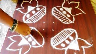 sankranthi bhogi kundala  muggulu with dots 6x6 || muggulu designs with dots for pongal