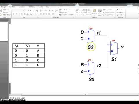 VHDL- Part 2 (Structural VHDL - Design of 4 to 1 Mux)