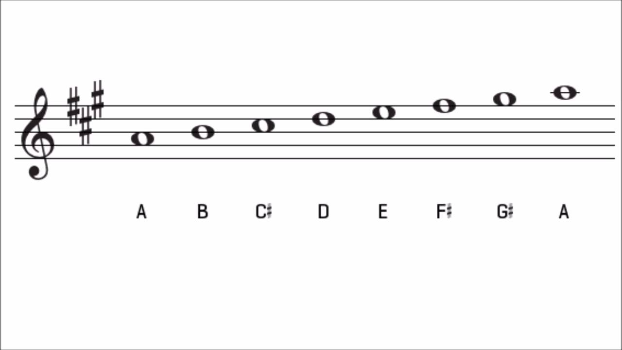 a major scale and key signature the key of a major youtube