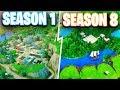 Download Evolution of the Fortnite Map Season 1 to Season 8