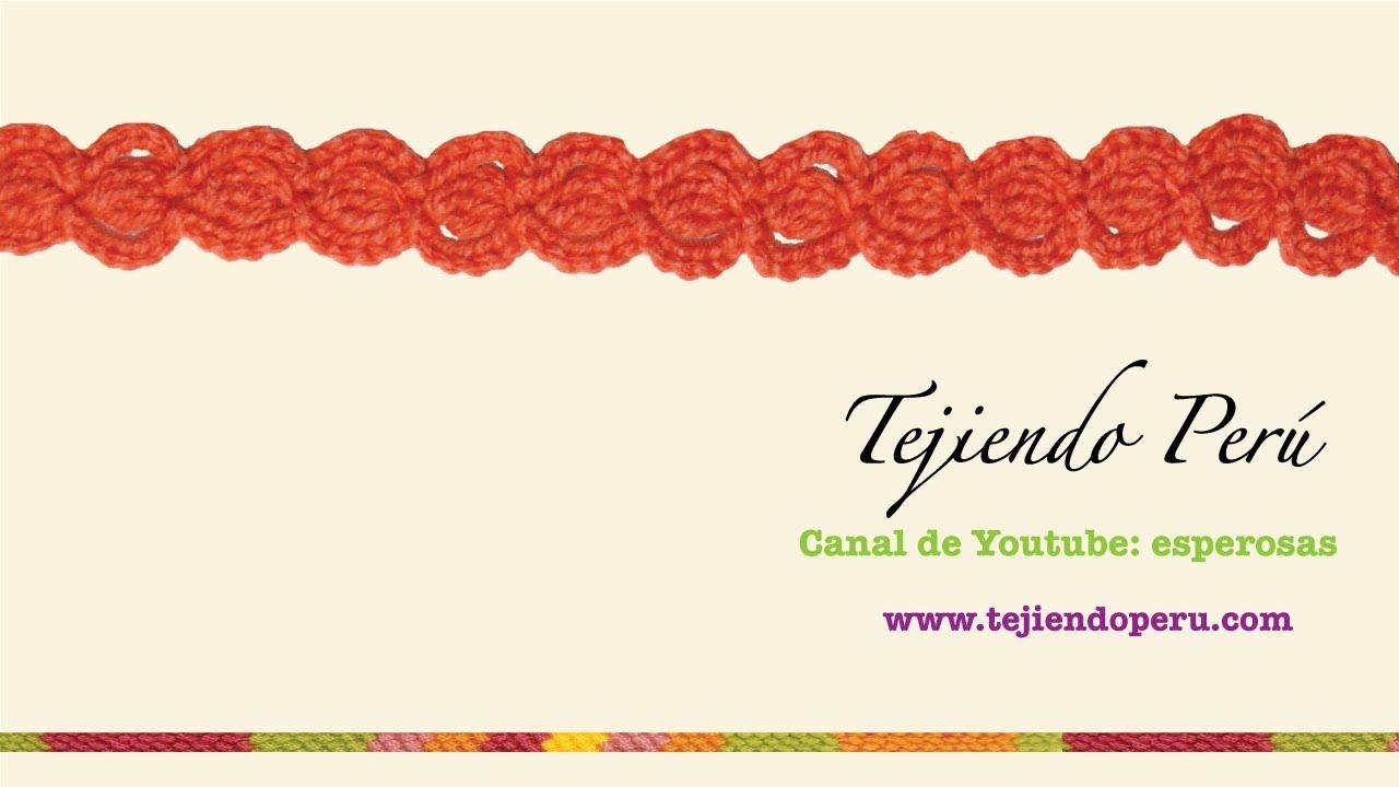 Cenefa para aplicar en crochet 1 youtube - Cenefas de crochet ...