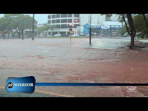 Chuva forte causa estragos em Presidente Prudente