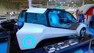 Машины будущего из Япония. Токио. Район Одайба. Японские машины.