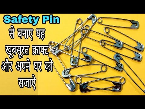 DIY Best out of waste Safety Pins/ Cool craft ideas/ Best reuse idea