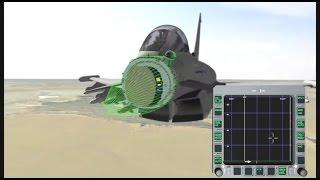 BAE Systems - Eurofighter Typhoon Captor E-Scan AESA Radar Simulation [480p]