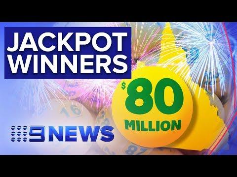 Two Queenslanders Share $80m Oz Lotto Jackpot | Nine News Australia